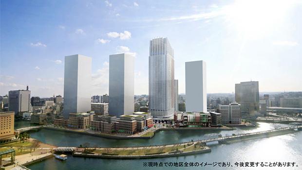 北仲通北再開発等促進地区地区計画 イメージ図