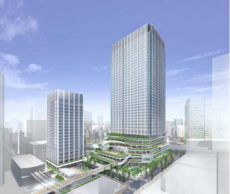 「都市再生ステップアップ・プロジェクト(竹芝地区)」 イメージ図 (出典:東急不動産)