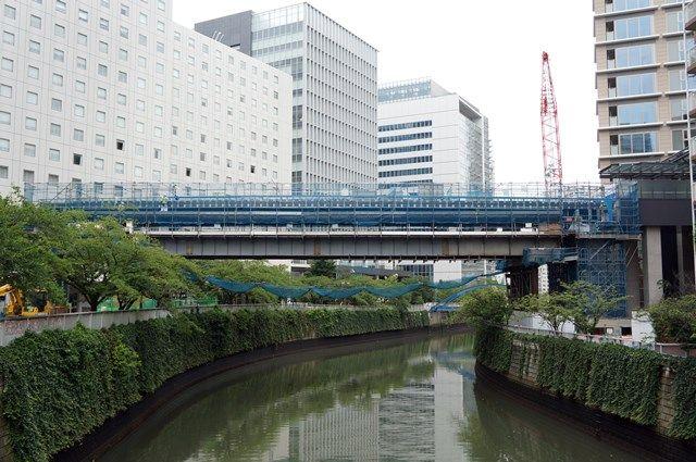 パークシティ大崎 目黒川歩行者デッキ 2015.7.4