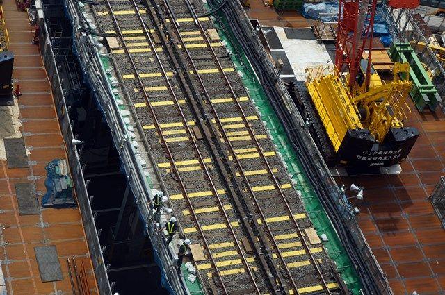 銀座線渋谷駅移設工事 2015.7.25