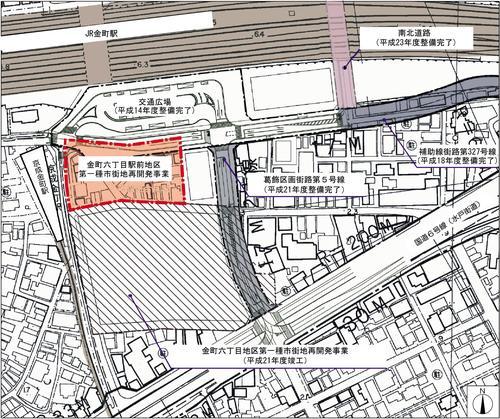 「金町六丁目駅前地区第一種市街地再開発事業」(出典:葛飾区)