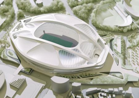新国立競技場 ザハ案 模型 (出典:47 NEWS)