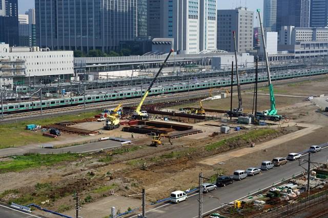 JR山手線新駅 2015年8月上旬