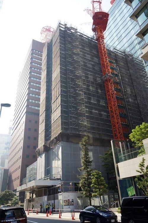「大手町一丁目第3地区第一種市街地再開発事業新築工事」 2015年8月上旬