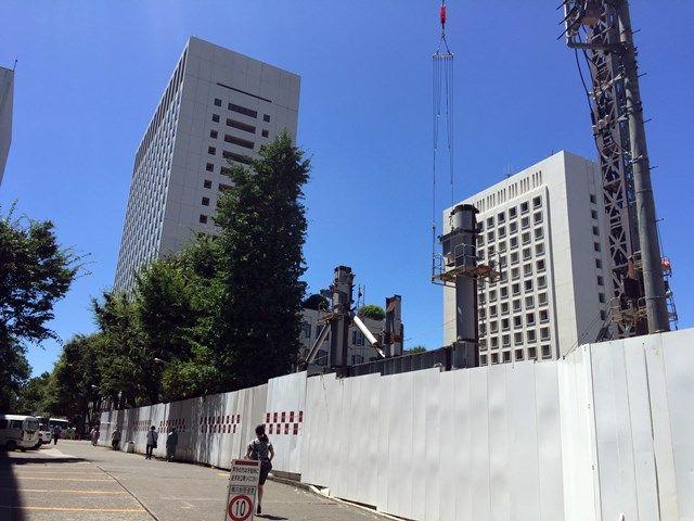 「上智大学四谷キャンパス6号館(ソフィアタワー) 建設工事」 2015.8.05