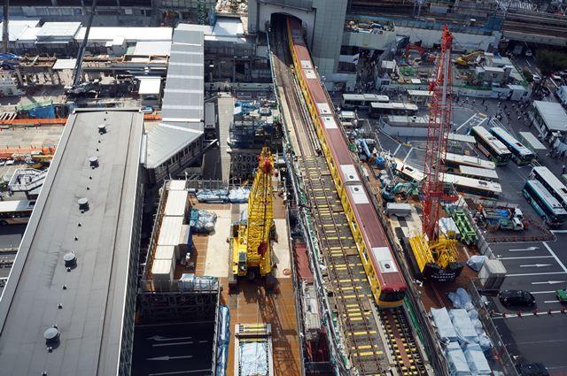 銀座線渋谷駅移設工事 2015.9.12