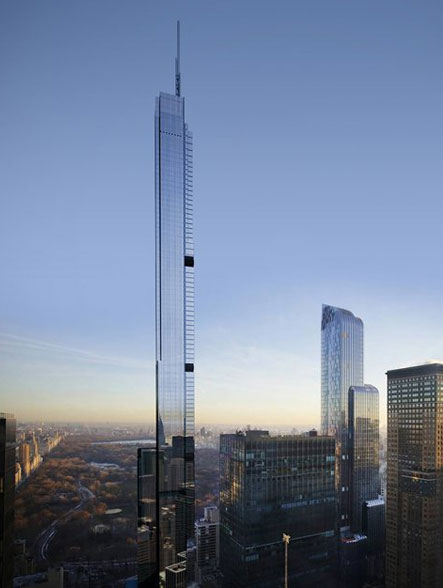 Central Park Tower (Nordstrom Tower) イメージ図 (出典:CityRealty)