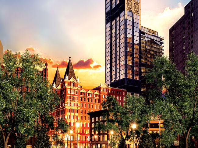 The Beekman Hotel & Residences イメージ図 (出典:gotham-magazine.com)