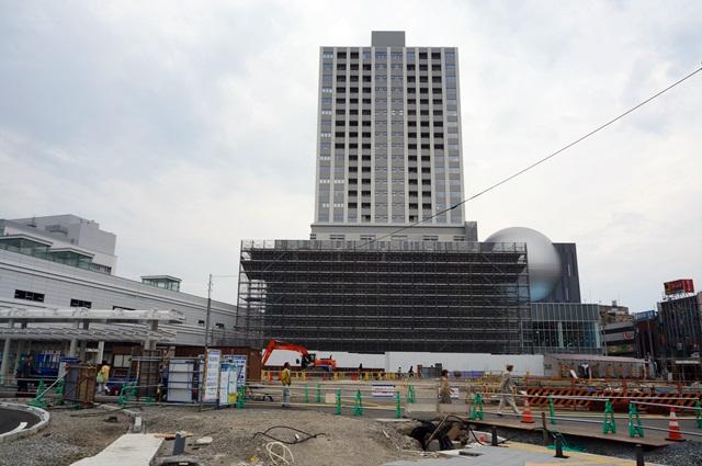 「福井駅西口中央地区第一種市街地再開発事業」 2015年10月中旬
