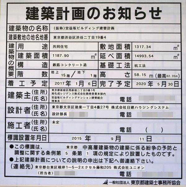 「(仮称)宮益坂ビル建替計画」 2015.10.25