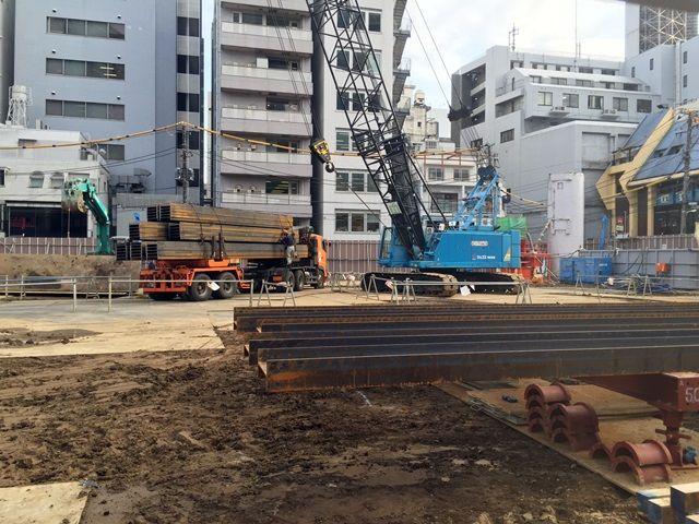 「警視庁麻布警察署庁舎改築工事」 2015年10月下旬