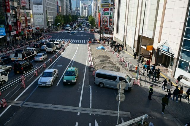 新宿近辺の甲州街道 2015.11.28