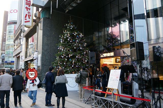 銀座山野楽器 本店 クリスマスツリー 2015.12.12