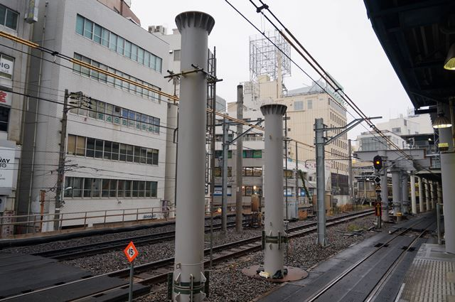 渋谷駅埼京線移設工事 2015.12.13