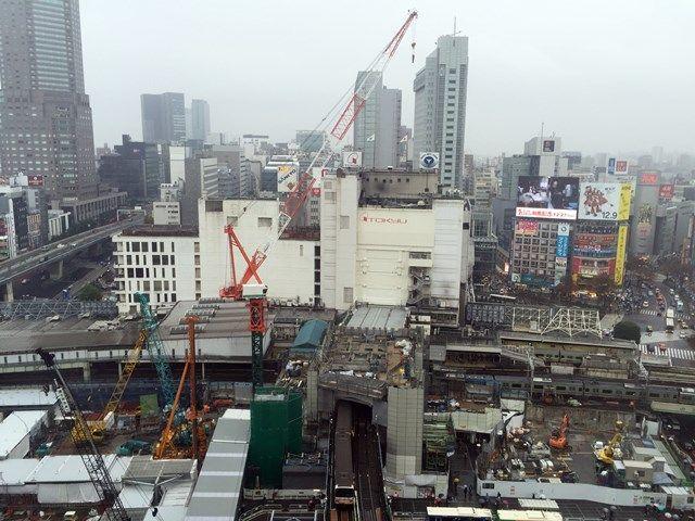銀座線渋谷駅移設工事 2015.12.13