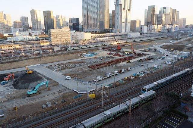 JR山手線新駅 2016年1月9日