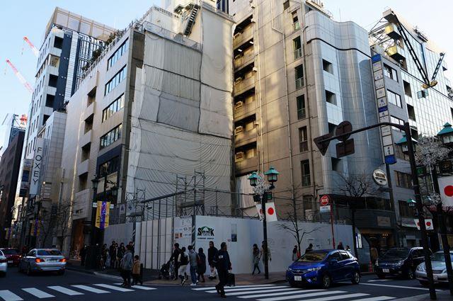 銀座のシャネル並木通り店建て替えの、「(仮)GINZA NAMIKI Building 新築工事」 2016.1.10