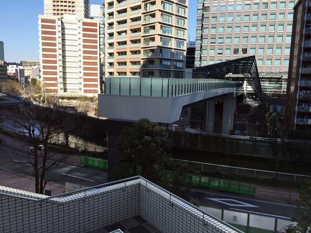 目黒川歩行者デッキ 2016.1.10