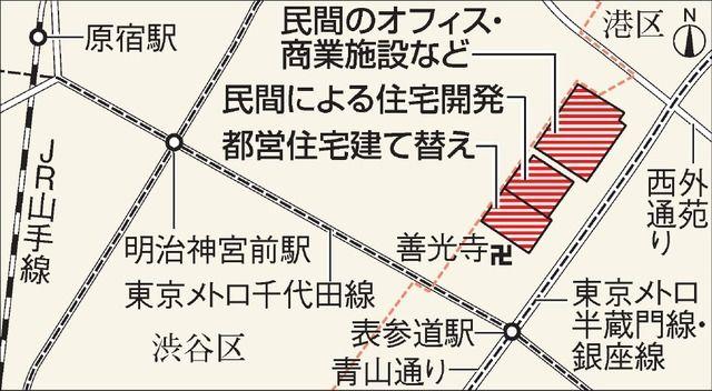 「北青山三丁目地区まちづくりプロジェクト」 (出典:朝日新聞)