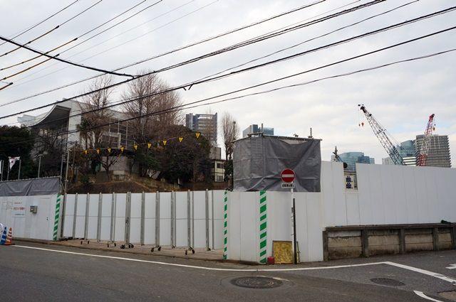 「JR東日本大崎寮」の跡地 2016.1.31