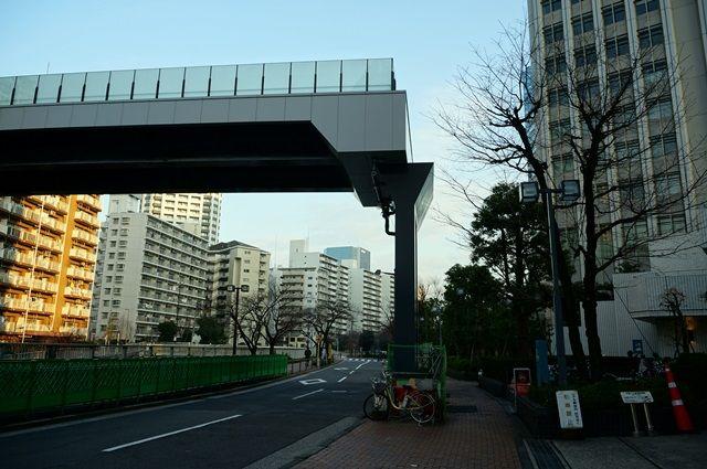 目黒川歩行者デッキ 2016.1.31