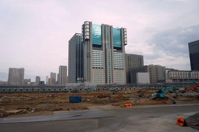 山手線新駅の工事の様子 2016.3.6