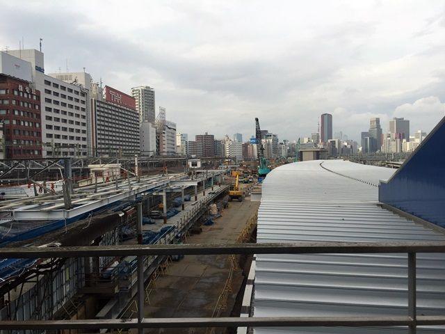 品川駅6番線ホーム工事の様子 2016.3.6
