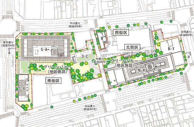 「春日・後楽園駅前地区第一種市街地再開発事業」 イメージ図 (出典:再開発組合)