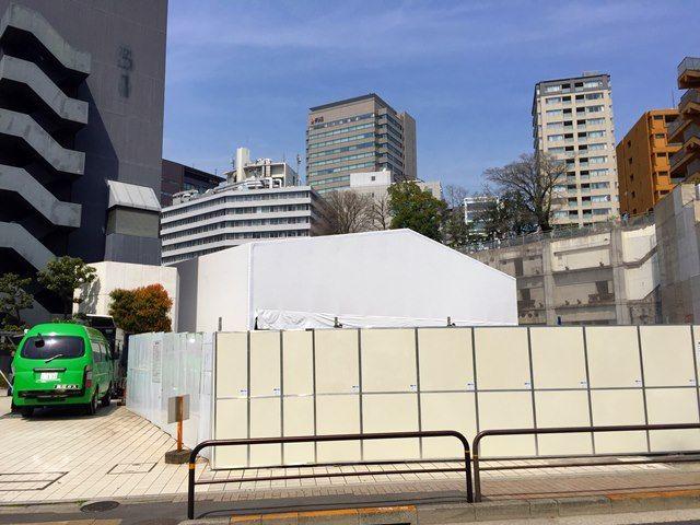 「ルイ・ヴィトン美術館仮設テント工事」 2016.3.31