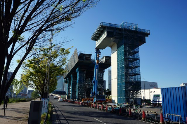 「首都高速10号晴海線」  豊洲 2016.4.29