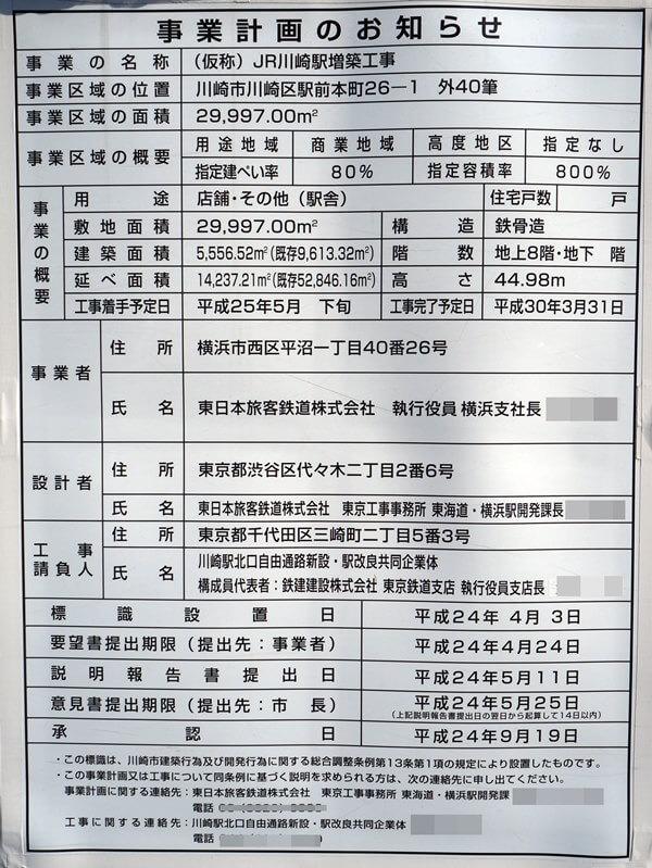 「川崎駅北口自由通路等整備事業」 2016.4.30