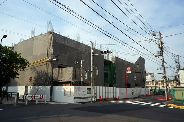 「東京都市計画道路 補助第46号線目黒本町五丁目地区」 2016年5月上旬