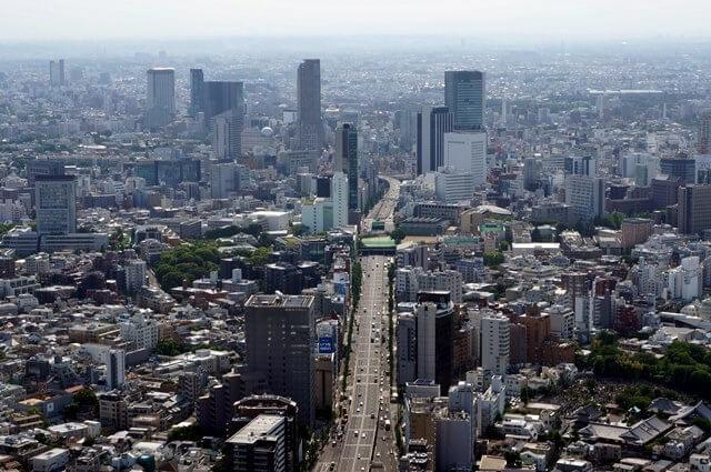 新宿方面の景色 2016.5.21