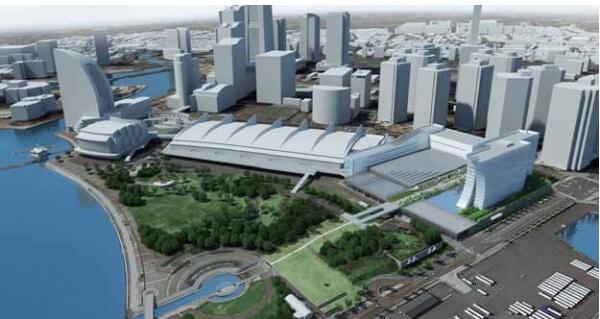 「みなとみらい21中央地区20街区MICE施設整備事業」 イメージ図 (出典:横浜市)