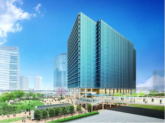 (仮称)MM21-54街区プロジェクト イメージ図 (出典:清水建設)