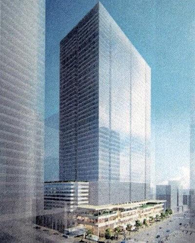 「八重洲二丁目中地区再開発」 イメージ図 (出典:建設通信新聞)