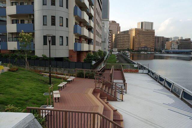 芝浦西運河沿い 2016.7.3