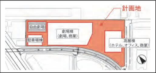 「(仮称)竹芝ウォーターフロント開発事業」 配置図 計画 (出典:JR東日本)
