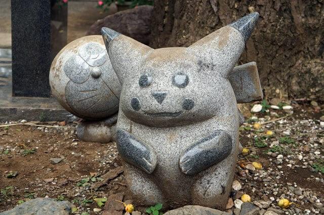 居木神社のピカチュウ