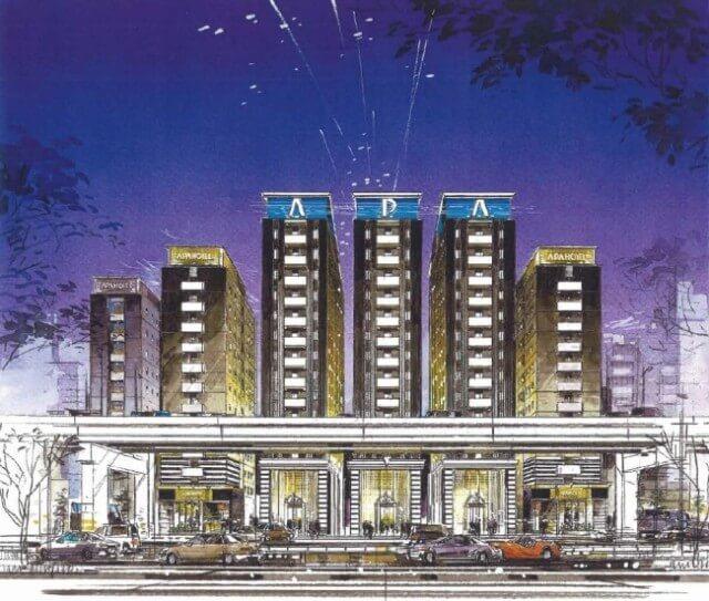 アパホテル〈六本木一丁目駅前〉 イメージ図 (出典:六本木経済新聞)