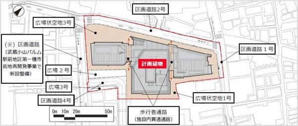 「武蔵小山駅前通り地区第一種市街地再開発事業」 (出典:住友不動産)