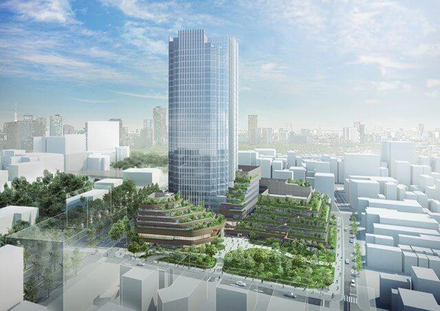 「(仮称)四谷駅前地区第一種市街地再開発事業」(出典:三菱地所)