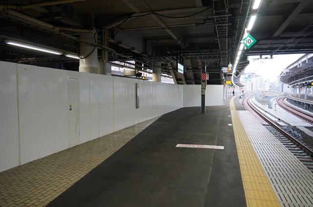 「品川駅6番線ホーム」 2016.11.26