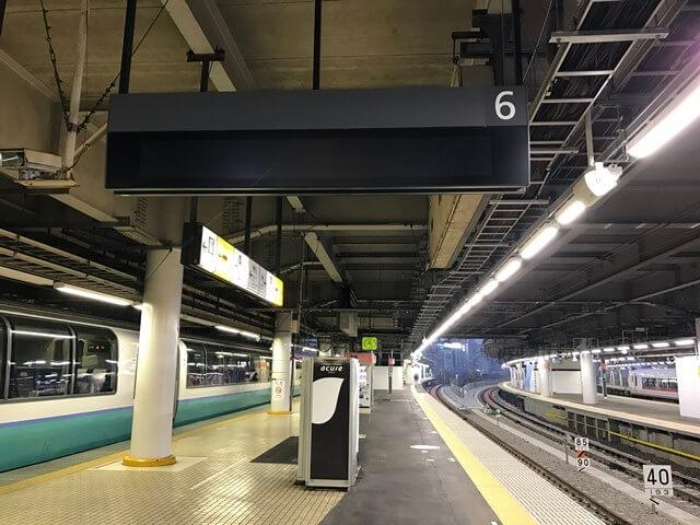 品川駅 6番線、7番線ホーム 2016.11.15