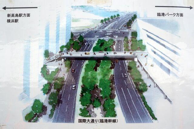 国際大通り 歩道橋 2019年7月下旬