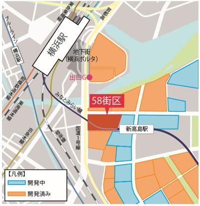 「横濱ゲートタワー」 配置図(出典:鹿島建設)