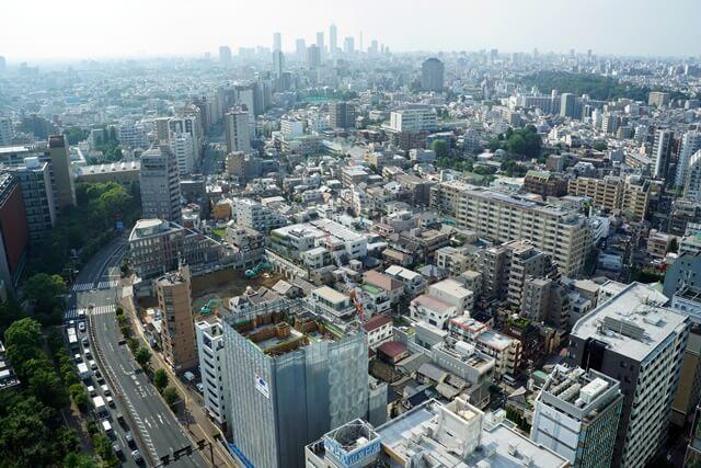 文京シビックホールから見た景色 2019年8月中旬
