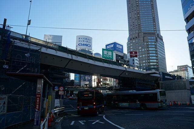 渋谷駅西口歩行者デッキ 2019.12.27