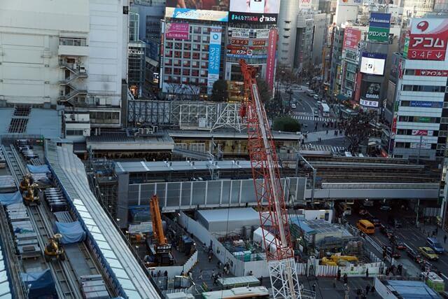 埼京線渋谷駅ホーム移設工事 2019.12.27
