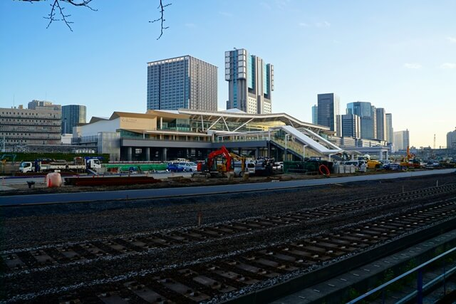 「高輪ゲートウェイ駅」周辺の様子 2019年12月下旬